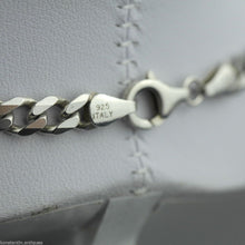 Load image into Gallery viewer, Vintage 5mm sterling silver necklace neck chain made in Italy 925