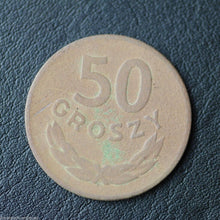 Load image into Gallery viewer, Vintage 1949 coin 50 grosze President Bolesław Bierut of Republic of Poland 20th