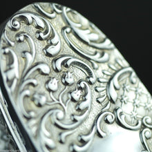 Load image into Gallery viewer, Antique 1903 sterling silver topped cut glass trinket box