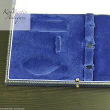 Load image into Gallery viewer, Antique blue box for Christening set Fork and spoon