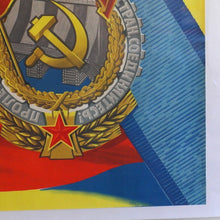 Load image into Gallery viewer, Original Labor motivation poster 1978 MOSCOW Glory for Work USSR