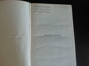 "Antique 1907 book by Charles Dickens ""Bleak House"" London British Empire"