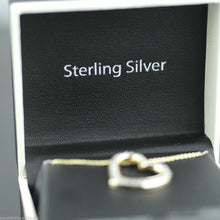 Load image into Gallery viewer, Sterling silver 18ct Gold over Heart pendant with diamonds on chain