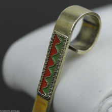 Load image into Gallery viewer, Vintage 916 sterling silver enamel gilt tea strainer Russian Leningrad