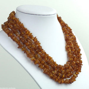 Genuine Natural Raw Baltic Amber stones Necklace