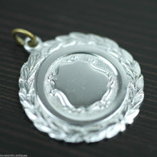 Load image into Gallery viewer, Vintage silver plate medal shield charm nice solid gift