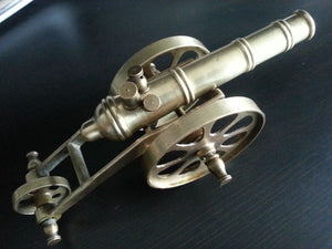 Vintage model Antique cannon brass statue great British Empire