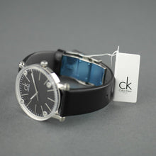 Load image into Gallery viewer, Calvin Klein Cogent Black Dial Swiss Gents wrist watch with black leather band