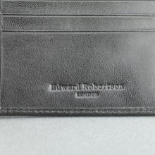 Load image into Gallery viewer, Edward Robertson London black goat leather wallet card holder