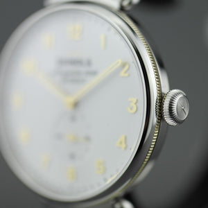 Shinola The Canfield wrist watch Matte Velvet White dial gold and silver tones stainless steel bracelet