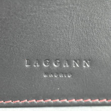 Load image into Gallery viewer, Laggann Madrid handmade black and red cow leather wallet card holder