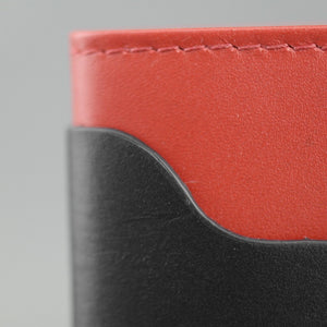 Laggann Madrid handmade black and red cow leather wallet card holder