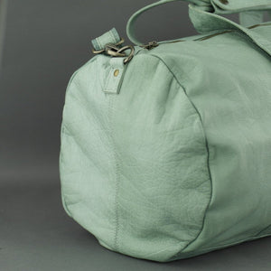 COBB & CO turquoise green Leather Sport Bag medium gym Duffle bag
