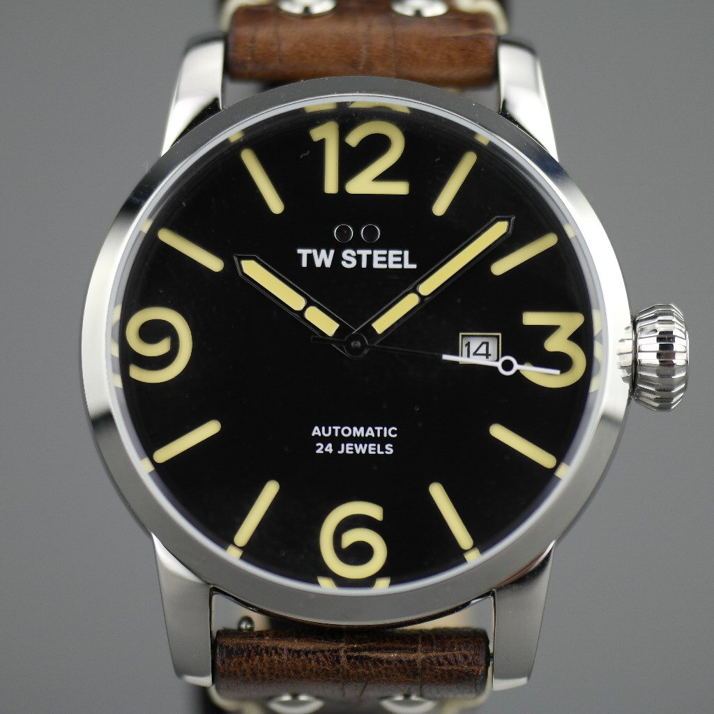 TW Steel Automatic Casual Men's wrist watch with brown leather strap