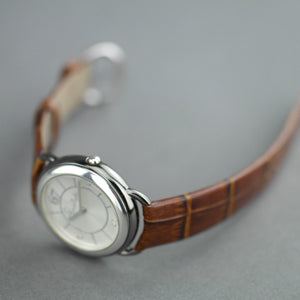 Pomellato 67 Limited Edition Ladies wristwatch with Diamonds with brown strap