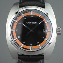 Load image into Gallery viewer, Calvin Klein Men's wrist watch Swiss Retro style with black leather band