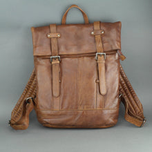 Load image into Gallery viewer, Vilenca Holland Tan Genuine Leather Business Backpack bag