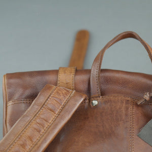 Vilenca Holland Tan Genuine Leather Business Backpack bag