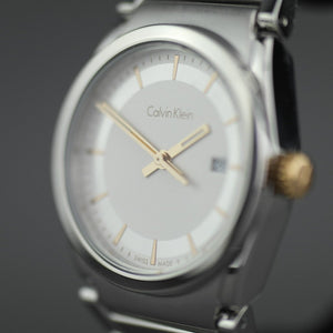 Calvin Klein Step wrist watch with silver dial and date