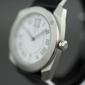 DWISS Limited Edition Swiss quartz white dial wristwatch with strap