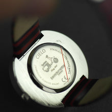 Load image into Gallery viewer, Lambretta Cielo Striped wrist watch with genuine leather strap