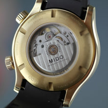 Load image into Gallery viewer, Mido Multifort Gold plated Automatic 25 Jewels wrist watch with rubber strap
