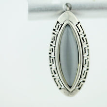 Load image into Gallery viewer, Vintage sterling silver earrings moon stone 925 great solid gift Greek key