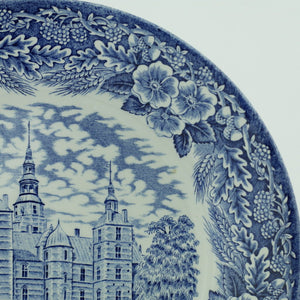 Vintage 1978 pottery plate ROSENBORG SLOT Denmark Royal Decor