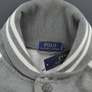 Polo Ralph Lauren Grey baseball fleece jacket Cardigan Regent