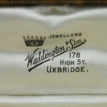 Load image into Gallery viewer, Antique cufflinks box British Empire Uxbridge Waddington and Son Jewellers