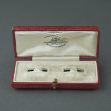 Load image into Gallery viewer, Antique red box for cufflinks British Empire London Goldsmiths and Silversmiths Company Ltd