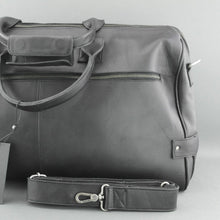 Load image into Gallery viewer, Still Nordic Sport Large Genuine Leather Holdall Travel bag Overnight Black