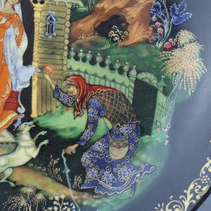 Wall Decor Russian tales - Dead Princess and the Seven Knights - plate of Vinogradov Porcelain