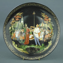Load image into Gallery viewer, Wall Decor Russian tales plate - The Priest and His Servant Balda - from Vinogradoff porcelain