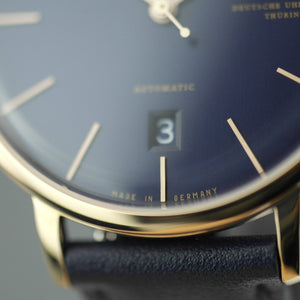 DuFa Breuer Automatic German wrist watch with blue leather strap