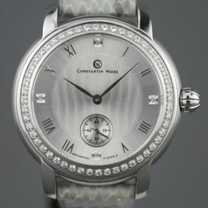 Constantin Weisz Diamonds edition mechanical wrist watch with snake leather strap