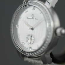 Load image into Gallery viewer, Constantin Weisz Diamonds edition mechanical wrist watch with snake leather strap