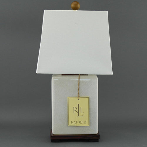 Ralph Lauren Chinese Porcelain Cream Crackle Traditional Chinese Meredith Table Lamp