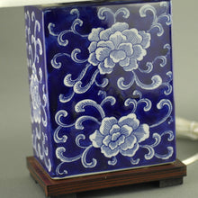 Load image into Gallery viewer, Ralph Lauren Chinese Porcelain Blue Flowers Traditional Chinese Meredith Table Lamp
