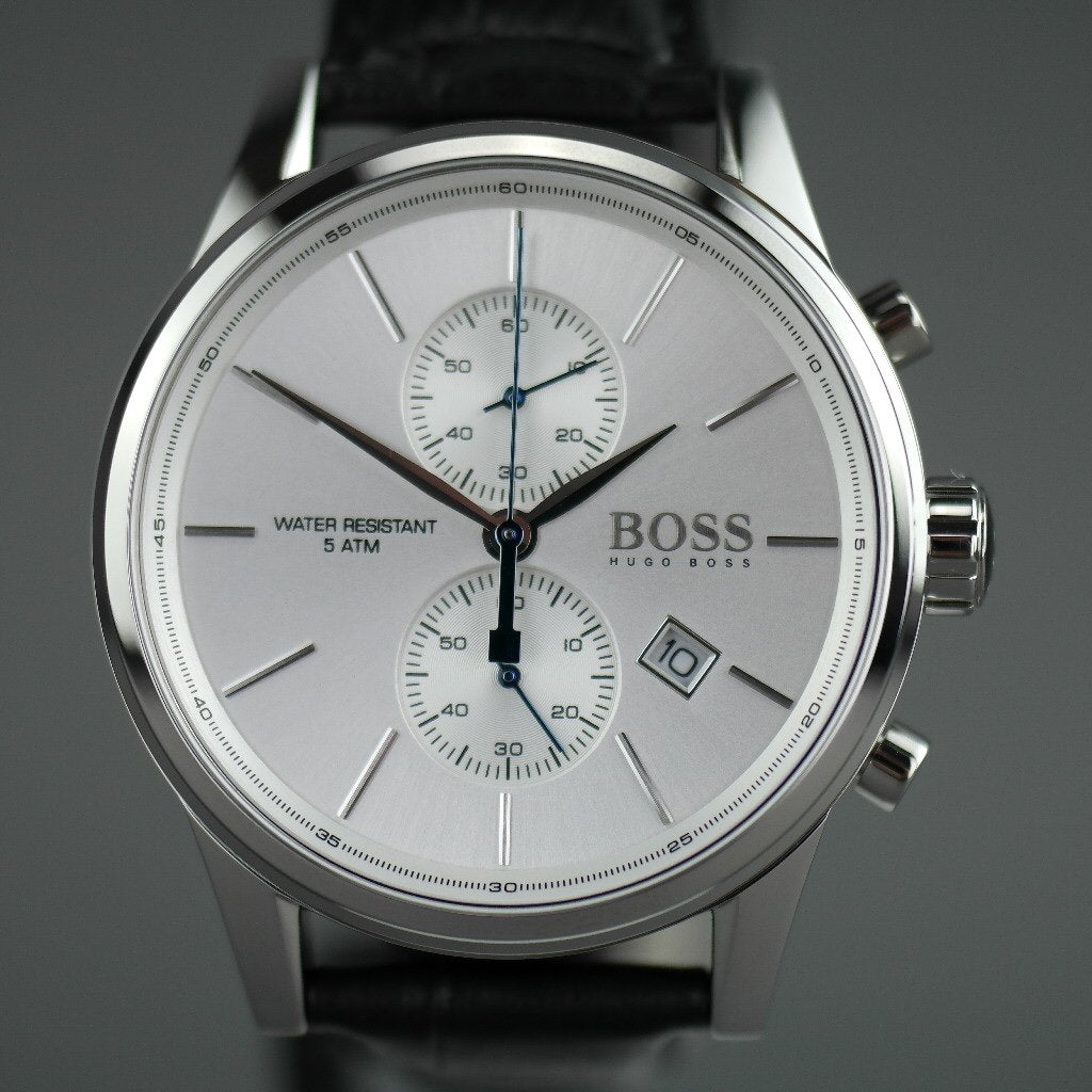 Hugo Boss Jet Mens Chronograph Watch with leather strap and day