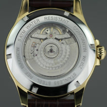 Load image into Gallery viewer, Constantin Weisz Gold plated Automatic watch with Nacre Dial and leather strap