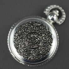 Load image into Gallery viewer, Sorge Full Hunter Silver plated pocket watch with Arabic numerals
