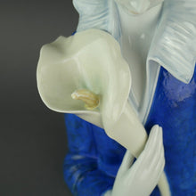 Load image into Gallery viewer, Limited Edition A woman with blue eyes and Calla Lilly Collection Porcelain figure