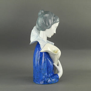 Limited Edition A woman with blue eyes and Calla Lilly Collection Porcelain figure