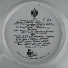Load image into Gallery viewer, Ivan's Conquest, Russian tales porcelain plate from Palekh Marsters of Russia, Wall Decor