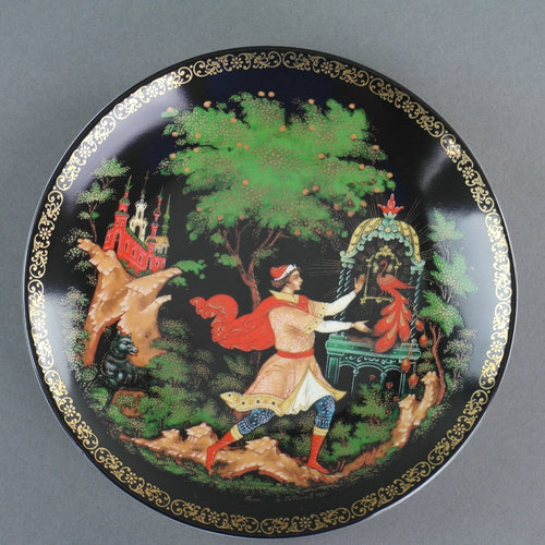The Golden Cage, Russian tales porcelain plate from Palekh Marsters of Russia, Wall Decor