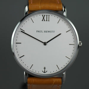 Paul Hewitt Sailor super-flat wrist watch with Swiss movement and Leather strap