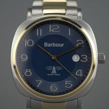 Load image into Gallery viewer, Barbour Beacon Drive wrist watch blue dial with date and stainless steel bracelet