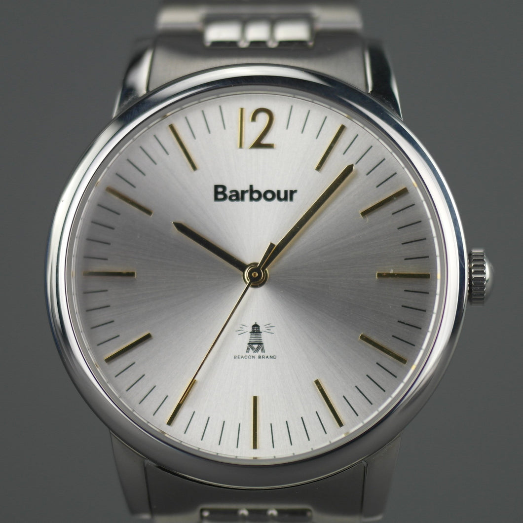 Barbour Beacon wrist watch silver dial and stainless steel bracelet