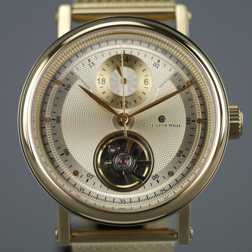 Constantin Weisz Limited Edition Gold plated Automatic 20 Jewels wrist watch with bracelet